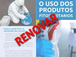 Como renovar o carné de Manipulador/aplicador de produtos fitosanitarios?