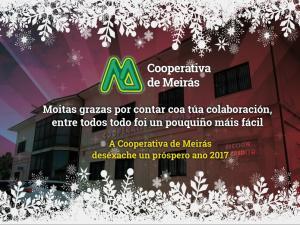 La Cooperativa de Meirás os desea Feliz Navidad y Próspero 2017!