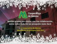 A Cooperativa de Meirás deséxavos un bo nadal e feliz ano 2017